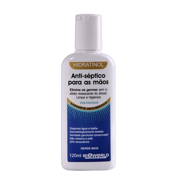 Hidratinol Sabonete Anti-Séptico Para Mãos Sem Enxague 120ml