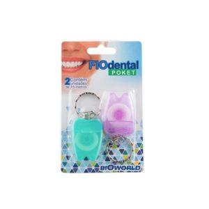 Kit Fio Dental Com Haste + Fio Dental Chaveiro + Escova Interdental 2 UN